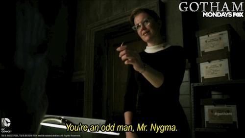 dccomics, gcpd, gotham, kristen kringle, lol, nygma, pencil, Gotham GIFs
