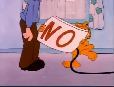 Watch and share Garfield GIFs and Nope GIFs on Gfycat