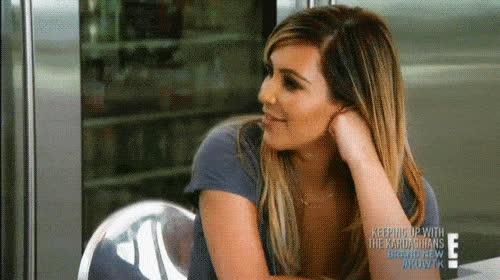 kim kardashian giggling GIFs