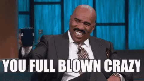 Watch and share Steve Harvey GIFs and Crazy GIFs on Gfycat