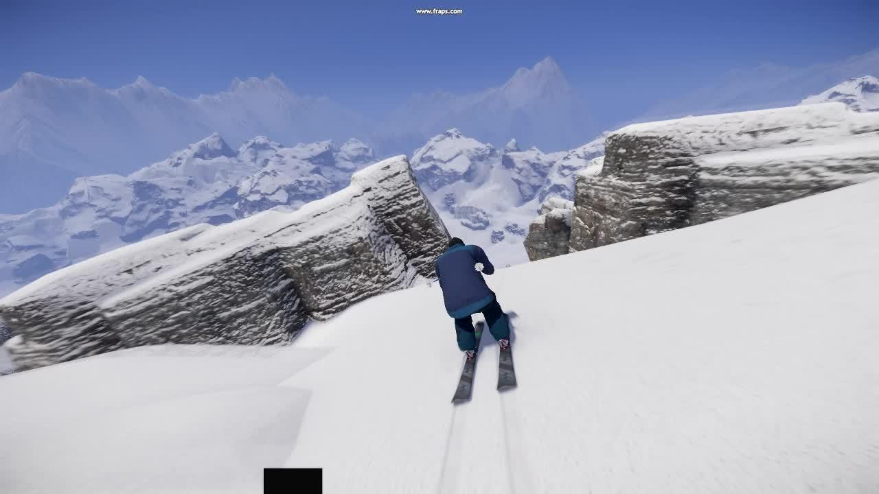 snowthegame, Crazy snow cliffjump GIFs