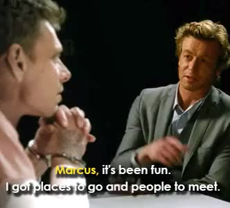 Watch Gifs GIF on Gfycat. Discover more 3.21, marcus pike, patrick jane, reference, season 3, the mentalist GIFs on Gfycat