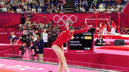 It just adds to the intensity!If anyone has the video of NBC comparing McKayla and Kohei Uchimura's vault (where she's literally 2 feet hig GIFs