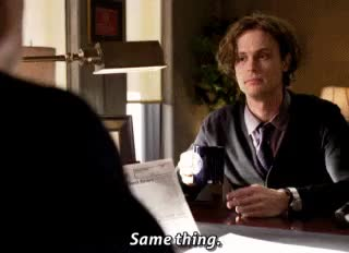 Watch and share Matthew Gray Gubler GIFs and Dr Spencer Reid GIFs on Gfycat