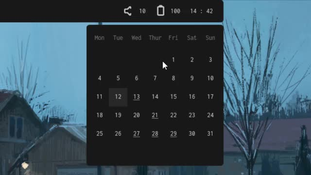 Watch and share Rainmeter GIFs and Calendar GIFs by corvust on Gfycat