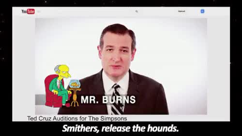 Watch Sand & Glass GIF on Gfycat. Discover more At Midnight, Ted Cruz, The Simpsons, gif, television GIFs on Gfycat