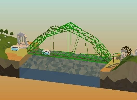 polybridge, 24m Double Drawbridge solution (way overbudget) (reddit) GIFs