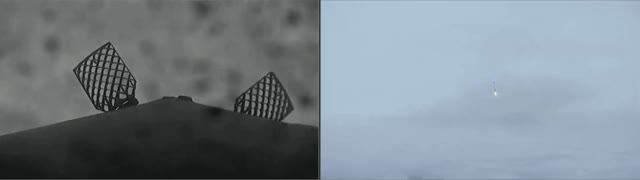 Watch falcon 9 fog landing GIF on Gfycat. Discover more related GIFs on Gfycat