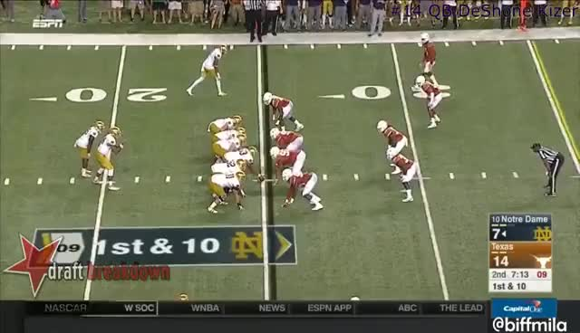Watch and share DeShone Kizer (Notre Dame) Vs. Texas (2016) GIFs on Gfycat
