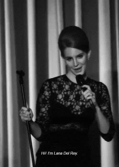 Watch gif gifs Black and White Cool performance live bw lana del rey hi lana GIF on Gfycat. Discover more related GIFs on Gfycat