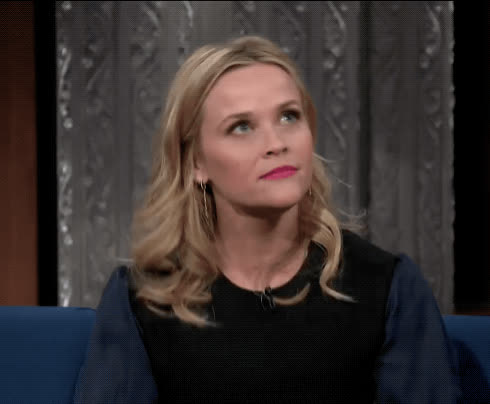 annoyed, bored, eye roll, full body eye roll, over it, reese witherspoon, the late show, Reese Witherspoon Eye Roll GIFs