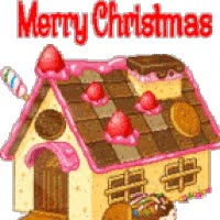 Watch and share Glitter MC Gingerbread House animated stickers on Gfycat