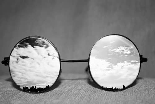 Watch this glasses GIF on Gfycat. Discover more black and white, clouds, dark, deal with it, depressing quotes, dont worry be happy, glasses, hipster, hipster quotes, john lennon, light, new account, shades, spectacles, sunglasses, the beatles. GIFs on Gfycat