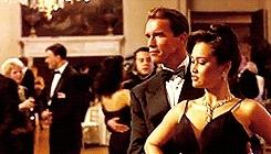 *TRUELIES, Arnold Schwarzenegger, Harry Tasker, James Cameron, Juno Skinner, Tango, Tia Carrere, True Lies, dance, film, gif, my stuff, the summer of kpop GIFs