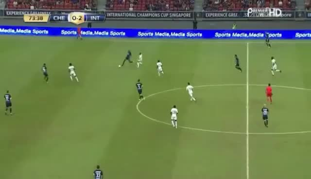 Watch and share Geoffrey Kondogbia Incredible 40-yard Own Goal - Chelsea Vs Inter!!! GIFs on Gfycat
