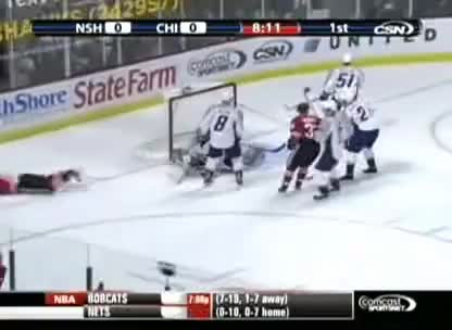 Goal, Hawks, Predators, Toews, Toews Goal Predators vs Hawks GIFs