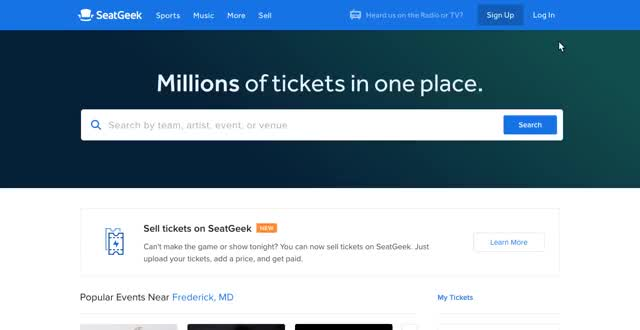 Watch and share Using SeatGeek GIFs by peterhassett on Gfycat