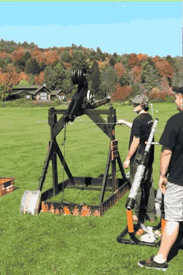 Watch and share Gourds Of War: Pumpkin-Chucking Machines Put Physics In Action GIFs on Gfycat