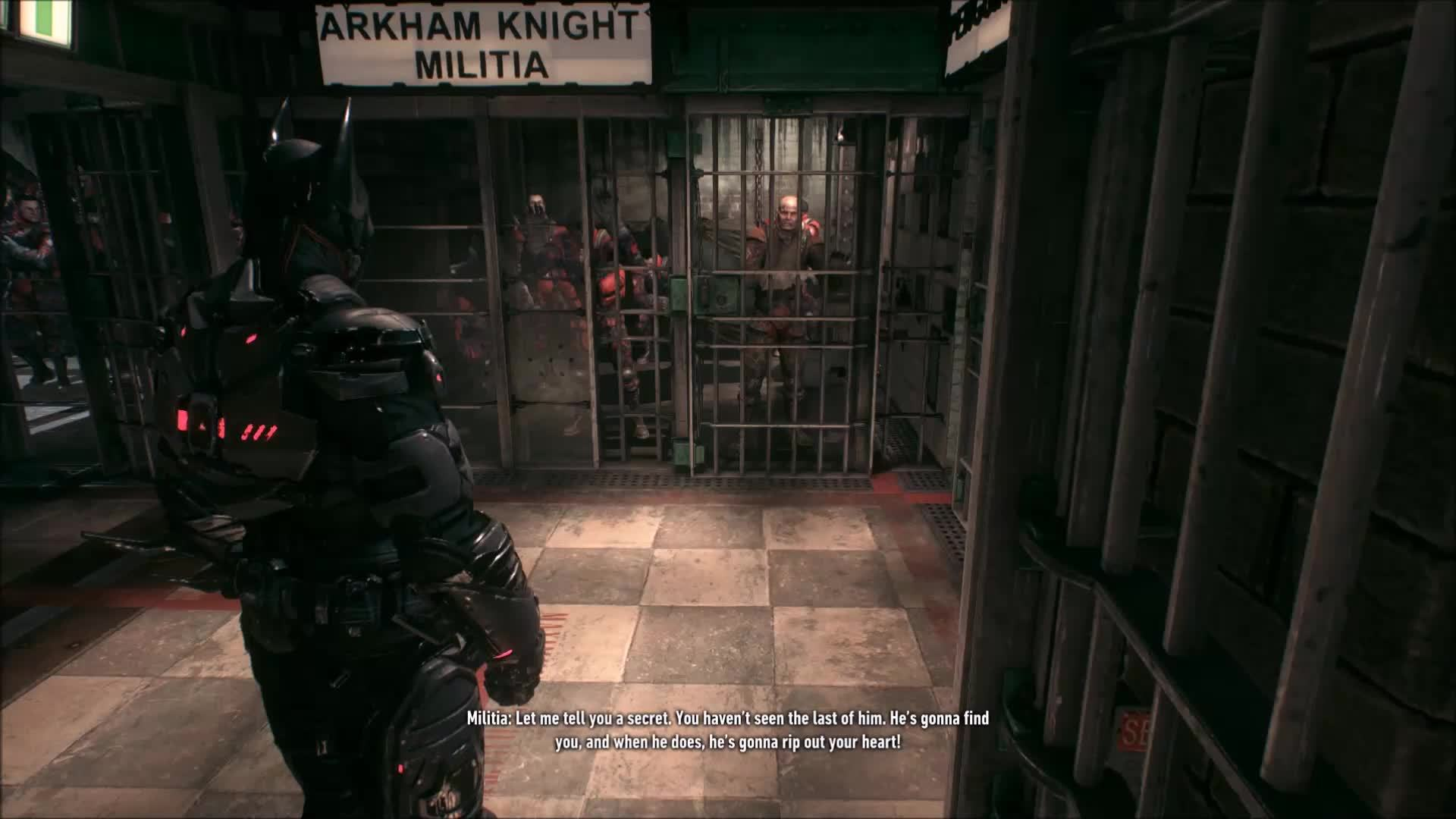 batmanarkham, The militia whose arm you break in the fist mission talks shit on you twice in the game, second time you don't even need to touch him (reddit) GIFs