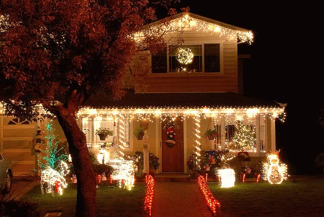 Watch and share Christmas Christmas Lights Decor Favim Com GIFs on Gfycat