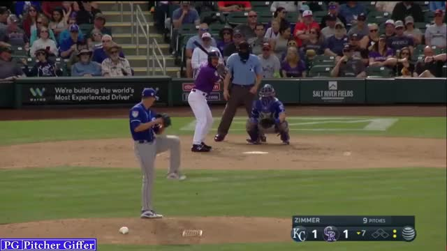 Watch and share Kyle Zimmer GIFs and Baseball GIFs by Pitcher Giffer on Gfycat