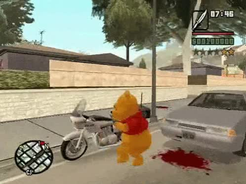 Watch and share Gta San Andreas GIFs and Winnie The Pooh GIFs by shadow0 on Gfycat