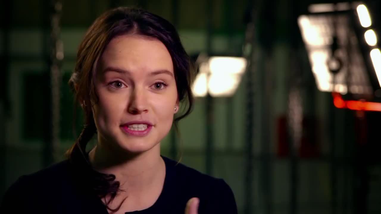 Daisy Ridley, Star Wars (Film Series), Star Wars Episode VII (Film), daisyridley, Star Wars The Force Awakens: Daisy Ridley Behind The Scenes GIFs