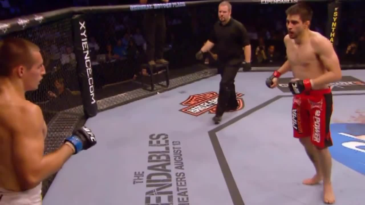 mmagifs, ufc, Rory Macdonald vs Carlos Condit end of round 2. GIFs