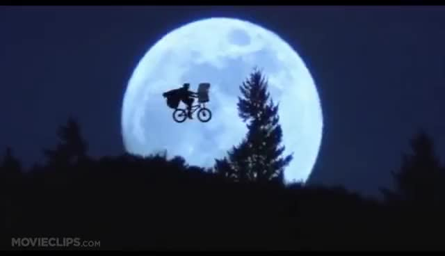 Watch and share Across The Moon - E.T.: The Extra-Terrestrial (7/10) Movie CLIP (1982) HD GIFs on Gfycat