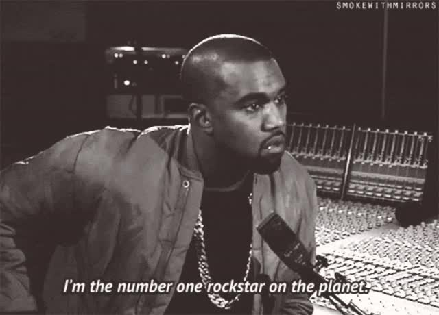 Watch Kanye-West-Im-the-number-one-rockstar-on-the-planet-GIF.gif GIF on Gfycat. Discover more khalid GIFs on Gfycat