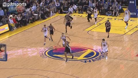 Watch and share Boris Diaw Blocks Steph Curry GIF GIFs on Gfycat