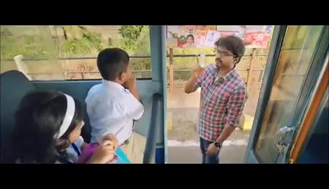 Watch and share Theri Vijay Nainika Cute Scene GIFs on Gfycat