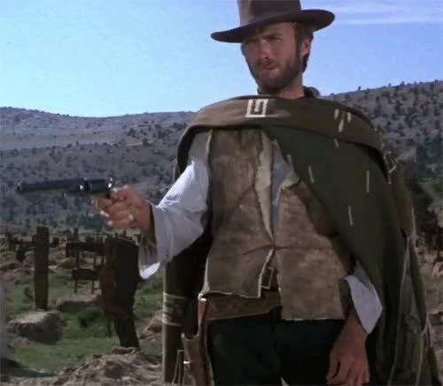 Watch this clint eastwood GIF on Gfycat. Discover more clint eastwood, gun GIFs on Gfycat