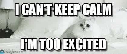 Watch I can't keep calm, I'm too excited GIF by @zbicin on Gfycat. Discover more related GIFs on Gfycat