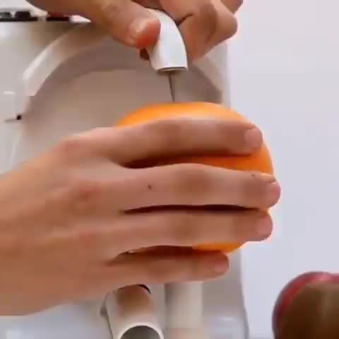 Watch and share Fruit Peeling Machine GIFs by tothetenthpower on Gfycat