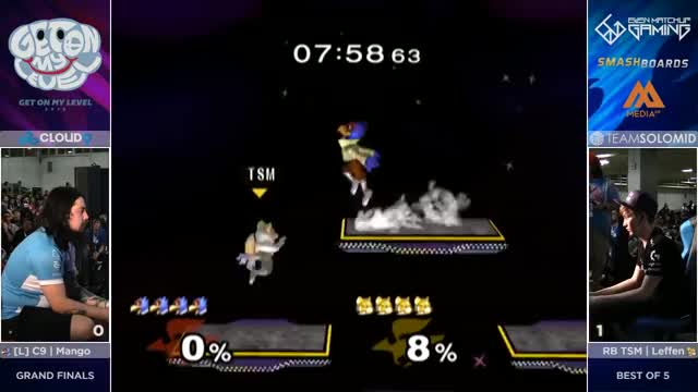 Watch C9 Mang0 (Falco, Marth, Falcon) vs TSM RB Leffen (Fox) - GOML2016 - Grand Final GIF on Gfycat. Discover more grsmash, ten, top GIFs on Gfycat