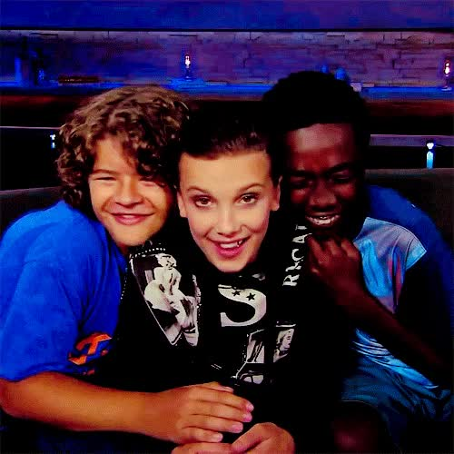 Watch and share Millie Bobby Brown GIFs and Gaten Matarazzo GIFs on Gfycat