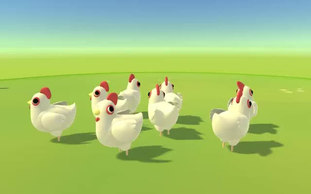 Watch and share Head Bop - Group Chickens GIFs by FUNKTRONIC LABS on Gfycat