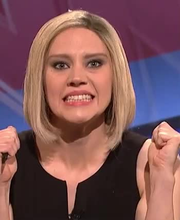 Comedian, Comedy, Crazy, Face, Funny, Kate, Live, McKinnon, Night, SNL, Saturday, angry, bite, fight, furious, mad, off, pissed, teeth, Funny Crazy Face SNL GIFs
