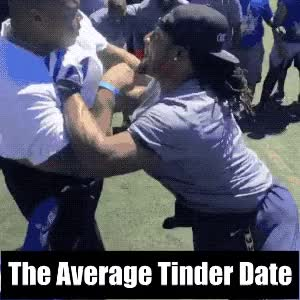 Watch The Average Tinder Date GIF by @yourrexcellency on Gfycat. Discover more date, date night, dating, funny, tinder GIFs on Gfycat