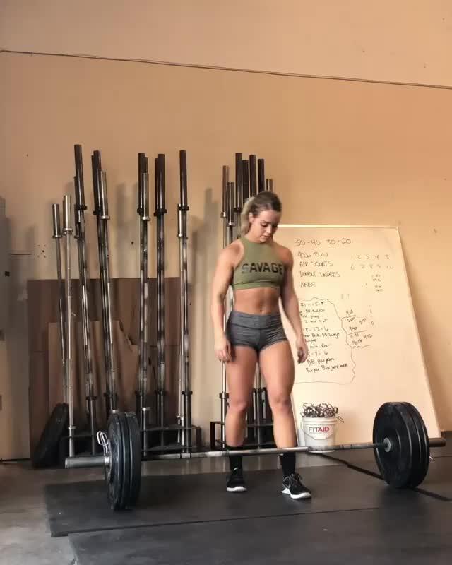Hannah Christel 145# push jerks GIFs
