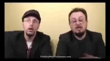 Watch and share Nostalgia Critic GIFs and Cinema Snob GIFs on Gfycat