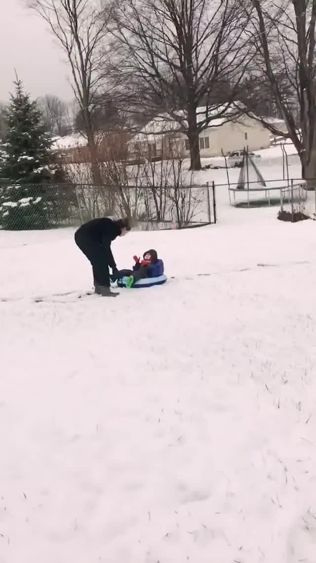 Watch and share Accident GIFs and Sledding GIFs on Gfycat