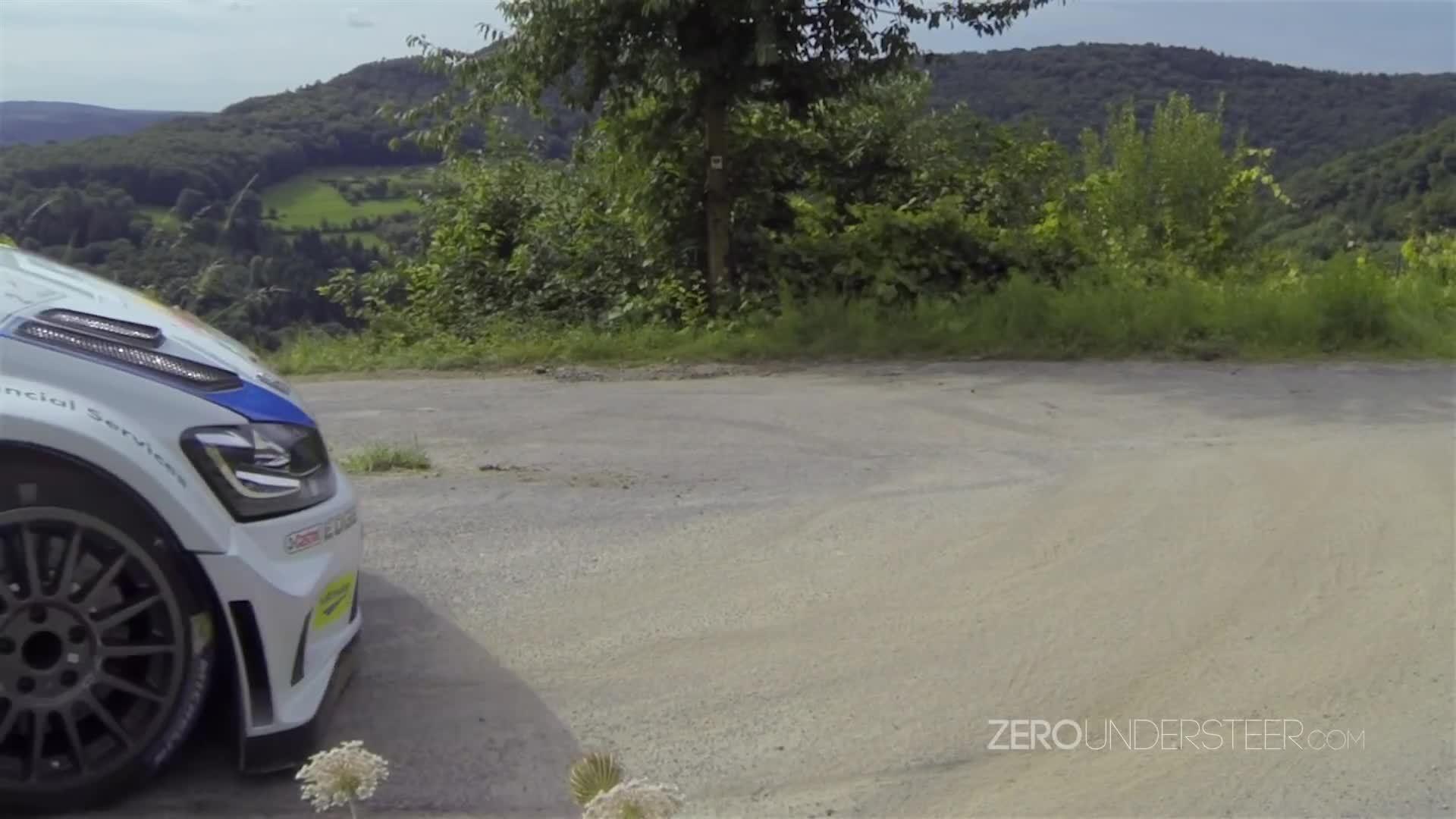 gif, gif_to_gyf, Jari-Matti Latvala Slow Motion Hairpin @ 2014 Rallye Deutschland GIFs