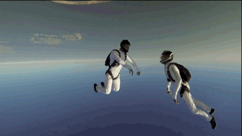Synchronized Skydiving GIFs