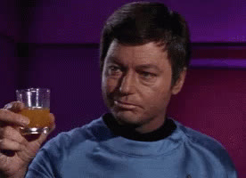 Deforest Kelley. Reaction, Leonard McCoy, McCoy, Star Trek, Star Trek Original Series, TOS, McCoy Cheers GIFs