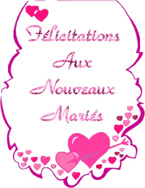 Watch and share Bonheur Mariage animated stickers on Gfycat