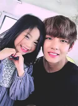 Watch I DONT KNOW WHO'S CUTER TBH GIF on Gfycat. Discover more AND HE IS SO FLUFFY AND CUTEEEEEE, BABIES WITH BABIES, BABIES WITH BABIES:bangtan, BABIES WITH BABIES:v, I LOVE LOVE LOVE THISSSSS, OMG, THE GIRL IS SO PRETTYYY, THEY ARE SO CUTEEEE, bangtan, bangtan boys, bias is perfect, bts, gifs, gifs:bangtan, gifs:v, mine, mine:bangtan, mine:gifs, mine:v, sexy brain, taehyung, v GIFs on Gfycat