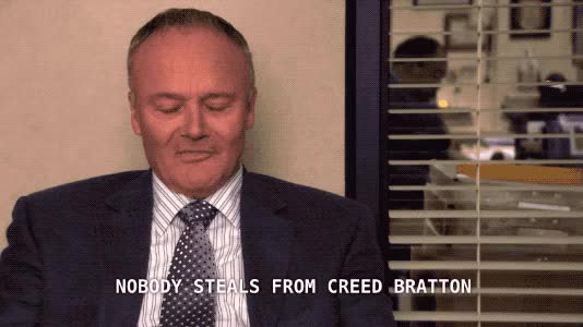 Watch and share Creed Bratton GIFs and The Office GIFs by Pete Brown on Gfycat