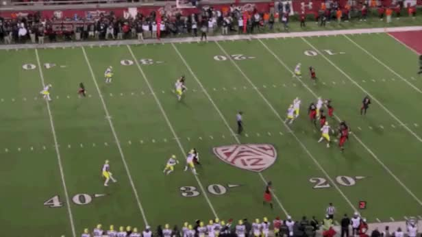 Watch Utah WR goes 78 yards to the endzone, prematurely celebrates and drops the ball on the 1 yard line. Opposing team recovers the ball and goes 99 yards in the opposite direction for a touchdown. (reddit) GIF by @adidaspete on Gfycat. Discover more related GIFs on Gfycat
